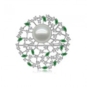 18k South Sea Pearl with Tsavorite and Diamonds