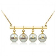 18k South Sea Pearls with Diamonds