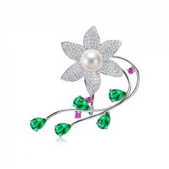18k South Sea Pearl, Sapphires, Emeralds and Diamonds