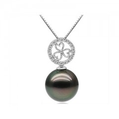 18k Tahiti Pearl with Diamonds