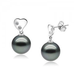 18k Tahiti Pearls with Diamonds
