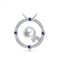 18k South Sea Pearl, Blue Sapphires and Diamonds