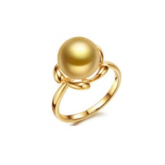 18k Yellow Gold with a South Sea Pearl