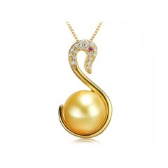 18k South Sea Pearl, Ruby and Diamonds