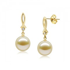 18k South Sea Pearls with Diamonds